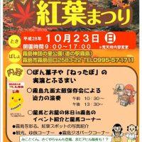 10月23日 (日) 10時より「きりしま紅葉まつり」開催!