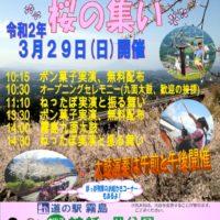 3月29日 日曜日「春はきりしま 桜の集い」を開催!